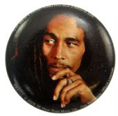 Bob Marley - 'Bob Hand' Button Badge